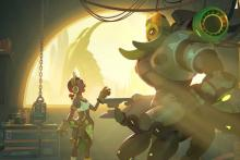 Orisa talking with her creator, Efi.
