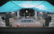 The reception's lobby, a hotspot for combat when it's in between one of the main extraction points and the best loot.