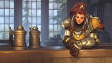 Brigitte relaxing on the Eichenwalde map.