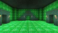 Make your way through an emerald maze