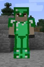 Although it isn't in game, this is a concept of Emerald armor!