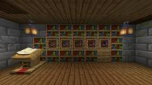 Display enchanted books in your enchanting room rather than storing them away!