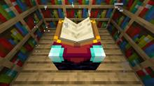 Placing bookshelves around an enchanting table increases the maximum level of enchantments!