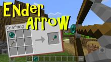With the help of command blocks! Ender Arrows are possible. (NOT IN VANILLA MC)