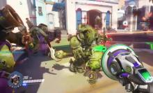 Lucio 'booping' enemy tanks to their death