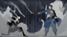 Roy Mustang fights Lust.