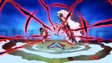 Luffy fights Doflamingo.