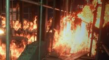 RE3 offered some truly tense moments when everything including yourself is on fire, and you're also running away from a really pissed off giant, who is also on fire.