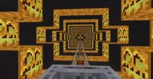 The Minecraft community has made some of the most amazing and unique roller coaster designs using minecarts and horrifying imagery!