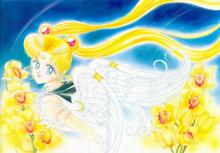Eternal Sailor Moon in all her glory with wings included to show her full transformation