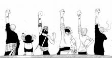 The members of the Strawhat crew are as tight knit as family.