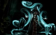 A summoner calls on the phantoms of serpents to provide aid to his mission.