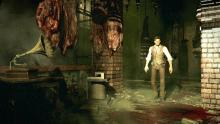 The Evil Within this building might be those juicy steaks, just hangin' around waiting for some tasty BBQ sauce.