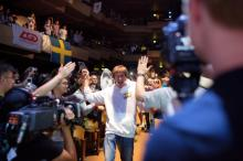 Famous Na'Vi member Dendi walks excited through the crowd - ExtremeTech