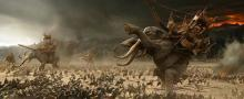 The battle of Pelennor Fields.