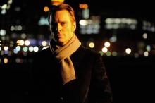 Fassbender sporting a quality scarf that I wouldn't mind having.