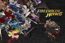 A banner depicting some of the most iconic heroes from the game.
