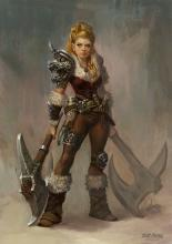 Size, race and gender play no role in being a barbarian, you only have to be a very angry person