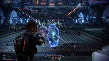Female Shepard in action as the cannon gender in the game.