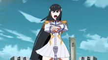 Student council president Satsuki Kiryuuin rules Honnouji Academy with an iron fist.