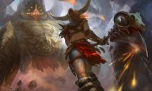 Azmodan is a boss in Diablo 3 that will not slow this Barbarian down.