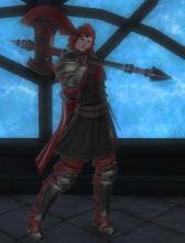 A Roegadyn character wearing a Crystarium gear set