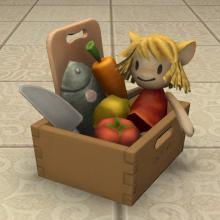 A child's chef playkit used for housing decoration