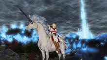 What could look better than a White Mage on their noble unicorn steed?