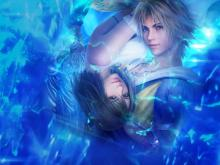 Tidus and Yuna on the cover foX r the remaster of Final Fantasy