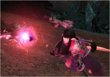 An epic battle between good and evil in the Stormblood Saga