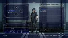 Noctis' default outfit in the Menu