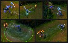 All of Dark Candy Fiddlestick's skills, displayed in-game.