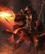 A Mage harnesses the power of fire to overcome his enemies