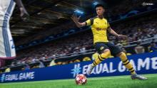 Jadon Sancho skipping away from a tackle like a gazelle.