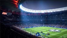 Realistic stadium and cutscene graphics.