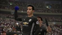 Alexis Sanchez scores a goal and celebrates in FIFA 18