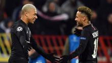 Neymar congratulating Mbappe on his inclusion in this list.