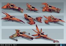 Here are several different fighter designs.