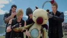 These boys adoring this patched up stuffed moogle warms my heart.