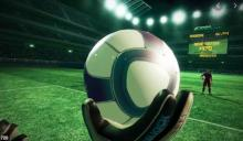 Play this virtual reality football game and experience the life-like position of goal keeper or striker!