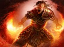 This flame wielding mage burns with the fury of a raging inferno, and someone stands to get a faceful of flames.