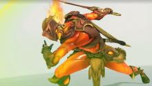 Genji in his flaming All-star skin