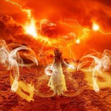A young mage creates a Firestorm