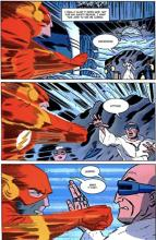Before The Flash can knock Captain Cold out in The New Frontier, the villain is able to stop the hero long enough to explain his dastardly plan.