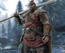 A Highlander stands around, grumpily waiting for a fight