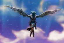 Glide in on wings of ice with this fire breathing dragon.