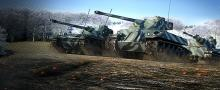 Amx 13 75, Lorraine 40t and Amx 50 120 moving together. They both have great mobility and autoloader mechanism.