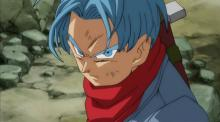 For Future Trunks, the world has been repairing itself after he destroyed its versions of 17, 18, and Cell. (Trunks' hair even had time to change from purple to blue!) However, disaster strikes his timeline yet again with the arrival of Goku Black, sparking an even worse crisis than with the androids. (Apparently signaled by his new red bandana)