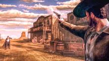 A cowboy aims down his sights in Desperadoes 3