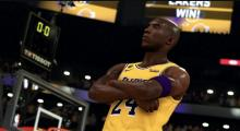Kobe poses for the camera.